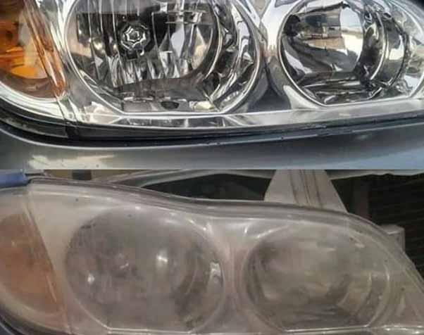 رفع تیرگی چراغ خودرو